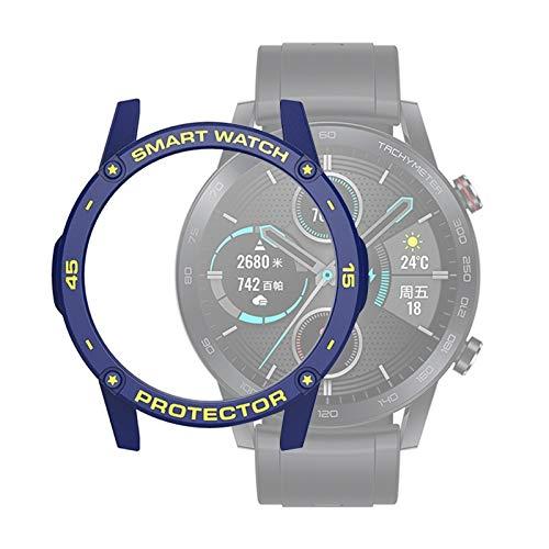 Bcyhls For Huawei Honor Magic 2 46mm Smart Watch TPU Funda Protectora, Color: Azul + Amarillo smartwatch Protective