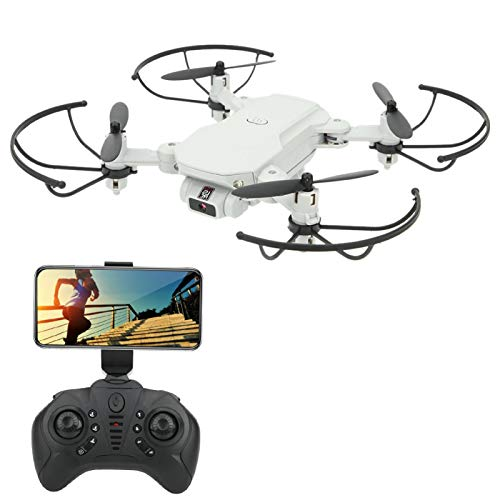 DAUERHAFT Juguete Educativo de Vuelo Estable RC Drone Quadcopter WiFi FPV con cámara de Alta definición para niños/Juguete para niños(White, 480P)