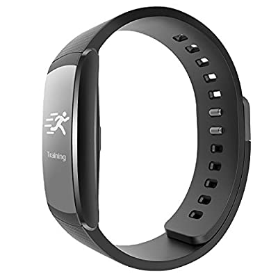 iWOWNfit i6 Pro Fitness Tracker, Smart Wristband with Dynamic Heart Rate and Deep/Light Sleep Monitor, Steps Distance Track Calories Counter Activity Touch Screen Bracelet for Android and IOS(Black)