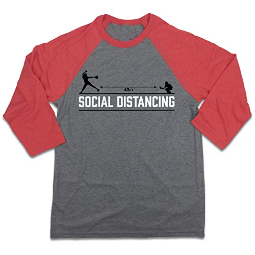 Fluffy Crate Social Distancing - Fastpitch Softball 3/4 Sleeve Raglan (M)