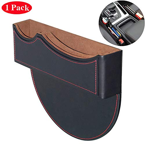 BALMOST Seat Gap Filler, Console Organizer, Car Pocket, Seat Catcher, Seat Crevice Storage Box for Smartphone Loose Change Coin Wallet Key (Black)
