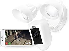Ring Floodlight Cam | Cámara de seguridad HD con focos integrados, comunicación bidireccional y alarma sonora | Incluye...