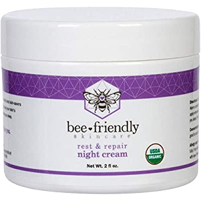 Best Night Cream - 100% All Natural & 80% Organic Night Cream By BeeFriendly, Anti Wrinkle, Anti Ageing, Deep Hydrating & Moisturising Night Time Eye, Face, Neck & Decollete Cream for Men & Women