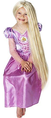 Princesas Disney - Peluca de Rapunzel para niña, accesorio disfraz (36269)