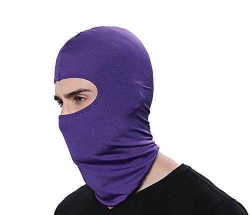 GAMWAY Ski Mask Balaclava Hood Skullies Beanies Outdoor Sports Cycling Hat (Purple)