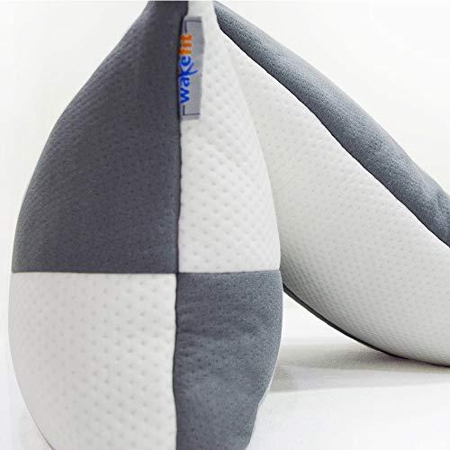 Wakefit Hollow Fiber Pillow, 68.58 Cm X 40.64 Cm, White And Grey, 2 Pieces 2