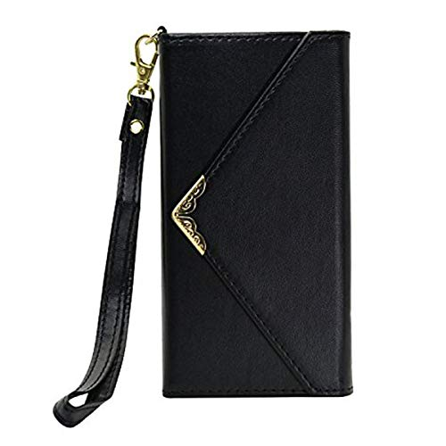 Black Friday Deals Cyber Monday Deals 2018-iPhone 6S/6 Wallet Case,Valentoria Women Wallet Envelope Flip Leather Wallet Case Credit Card ID Holders With Wrist Strap for iPhone 6S(iPhone 6S/6, Black)