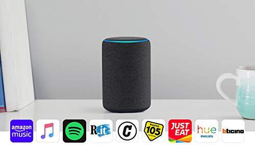 Echo Plus (2ª generazione) - Hub per Casa Intelligente integrato e suono di ottima qualità - Tessuto antracite