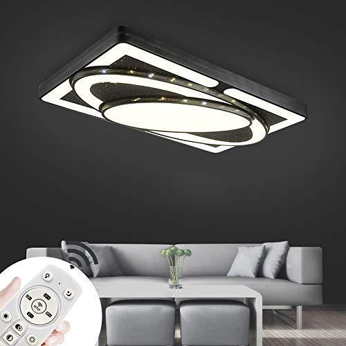 MYHOO 78W LED Regulable Luz de techo Diseño de moda moderna plafón,Lámpara de Bajo Consumo Techo para Dormitorio,Cocina,oficina,Lámpara de sala de estar