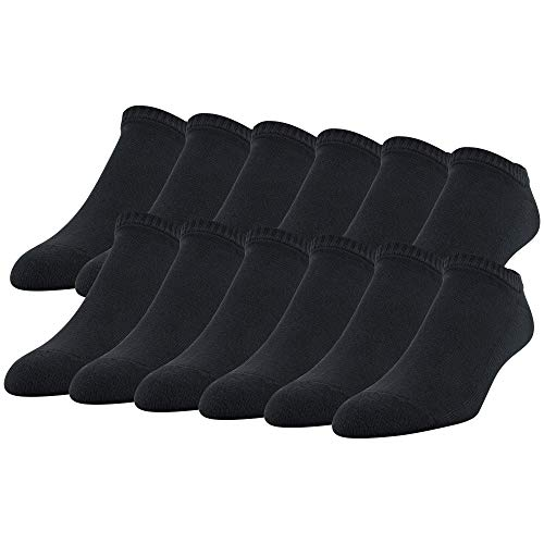 12-Pack Gildan Men's Stretch Cotton No Show Socks (Black) $5.44 ($0.45 ea) + Free Shipping w/ Prime or on $25+