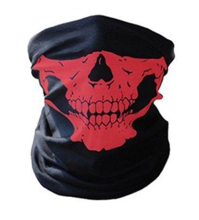 WAWO Neu Skeleton Schädel Bandana Snowboard Skifahren Motorrad Biking Rave Maske Paintball (Red)