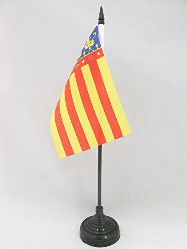AZ FLAG Bandera de Mesa de la Comunidad Valenciana 15x10cm - BANDERINA de DESPACHO Valenciana 10 x 15 cm