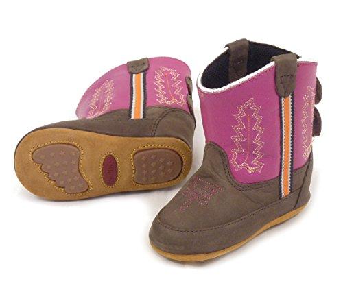 Westernwear-Shop Baby Leder-Cowboystiefel Westernstiefel Girl pink Baby-Westernstiefel Kinder-Westernstiefel Cowboy Boots für Mädchen (3) Pink