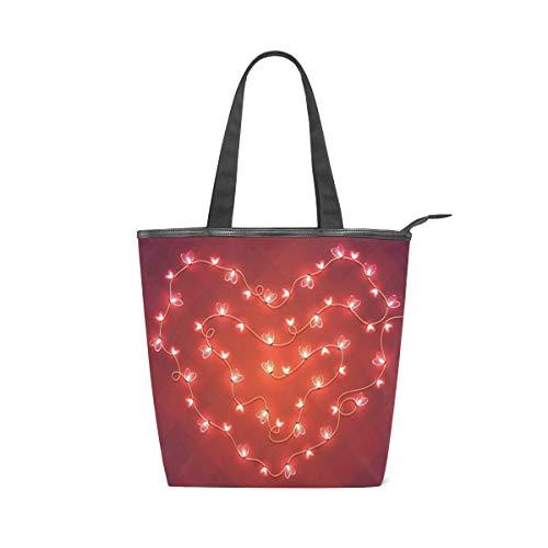 BOSENKE Laptop Tote Bag for Women Lightweight Fashion pattern canvas Handbag Womens Shoulder Bag, Romantic Valentines Day Abstract Hearts (work/shopping/school/travel)