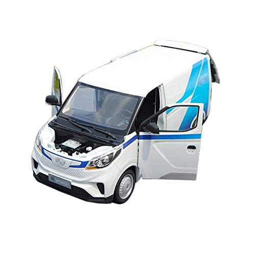 Vehículo Diecast 1:18 para EV30 Aleación Modelo De Transporte Comercial Vehículo Metal Fundido A Presión Van Coche Modelo Estático Colección Regalo (Color : Azul)