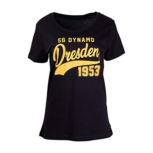 SG Dynamo Dresden Damen-Shirt College schwarz, Größe:XXL