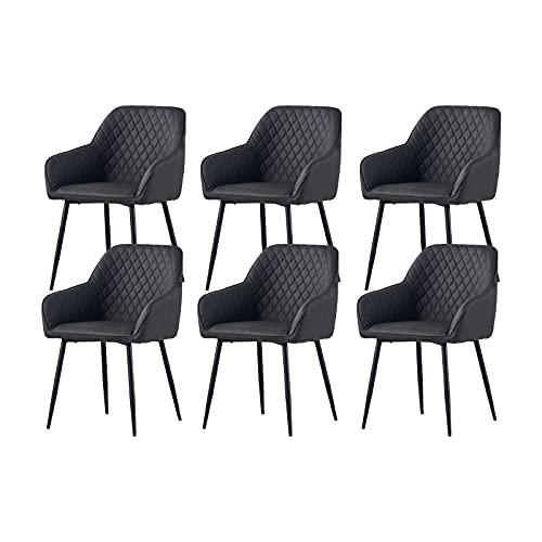 6X Wohnzimmerstuhl Esszimmerstuhl aus PU Farbauswahl Retro Design Armlehnstuhl Stuhl mit...