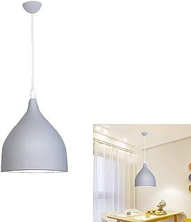 E27 Moderne Suspensions Luminaires Aluminium métal Suspensions Pendentif gris Luminaires Eclairage de Plafond Plafonnier L...