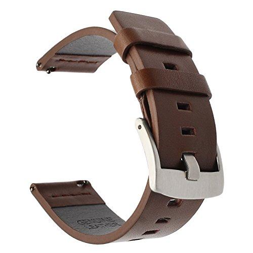 TRUMiRR Armband kompatibel Für Samsung Galaxy Watch 46mm/Gear S3/Huawei Watch GT Armband, 22mm Uhrenarmband Vintage Echtes Leder Armband für Samsung Galaxy Watch 46mm,Gear S3 Frontier/Classic