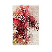 アメリカンフットボールディヴォックオリジポスターキャンバス絵画壁画絵画壁画ポスターとプリントリビングルーム寝室の装飾ポスター16×24インチ(40×60cm)