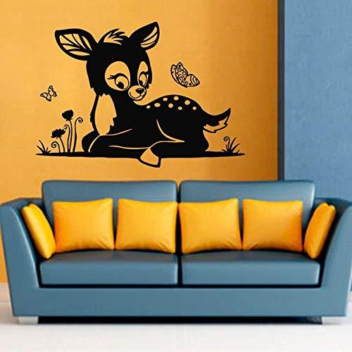 mlpnko Baby Schmetterling Wandaufkleber Cartoon Tierkitz Natürliche Heimdekoration Vinyl Aufkleber Aufkleber,CJX10755-122x88cm