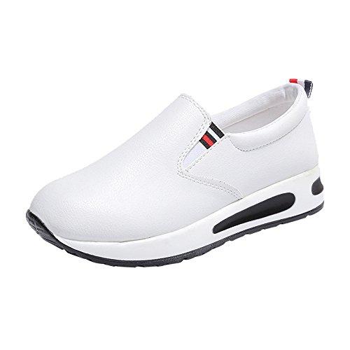 OHQ Zapatos Deportivos Mujer Sandalias Romanas Playa Zapatillas Verano Moda Chanclas Zapatos Individuales Casuales Zapatillas Deporte Altura Creciente CuñAs CóModo (36, Blanco)