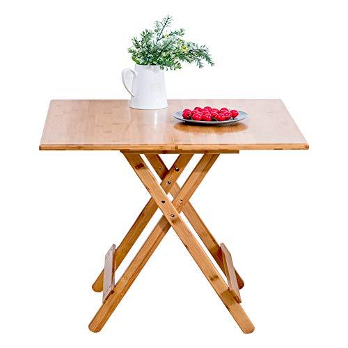 HCYTPL salontafel, bamboe, inklapbare tafel van hout, verstelbaar, werktafel, uittrekbaar, draagbaar