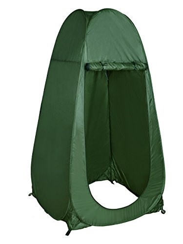 TMS Portable Outdoor Green Pop Up Tent Camping Shower Privacy Toilet Changing Room with Window