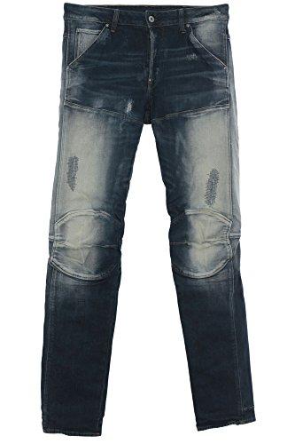 G Star Elwood 5620 3D Jeans Hose Pants Herren Used Look Restored Slim Fit, Farbe:blau;Hosengrößen:W30;Hosenlängen:L34