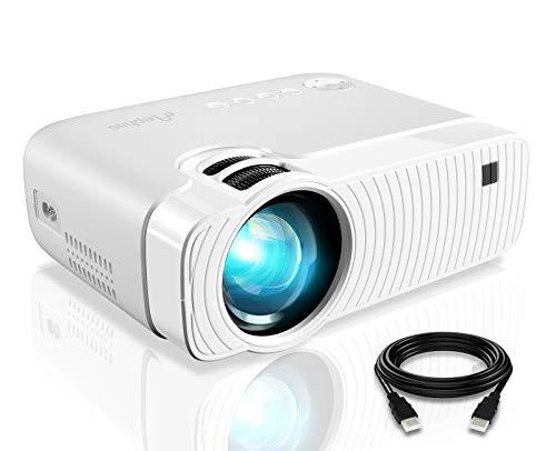 Elephas Mini Proiettore Portatile 4500 Lumen, Videoproiettore Full HD 1080P, Videoproiettore LED con Lampadina da 50000 Ore, Pico Projector con USB/VGA/HD/SD/AV per Smartphone