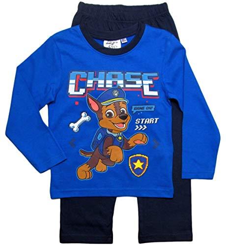 PAW PATROL Schlafanzug Jungen Pyjama Schlafanzug Lang (Blau, 98-104)