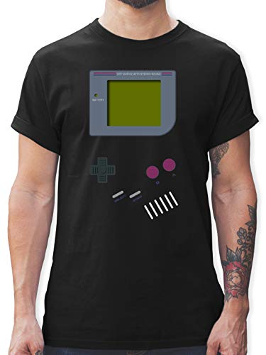 Nerds & Geeks - Gameboy - L - Schwarz - L190 - Tshirt Herren und Männer T-Shirts