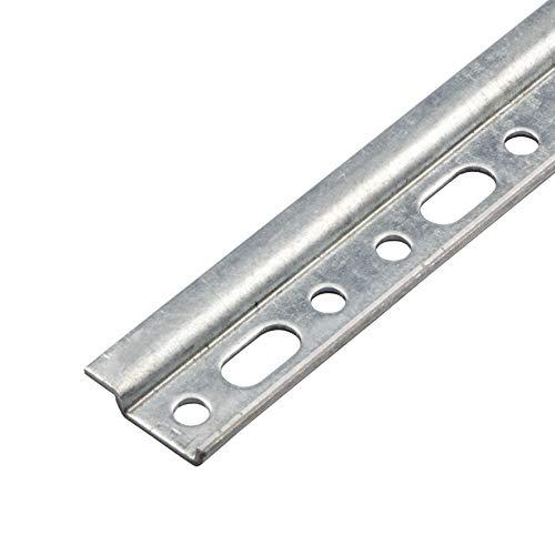 Gedotec Ophangrails, kast-ophangrails, hangkasten en keuken, metalen montagerails met lengte 450 mm, verzinkt staal, draagkracht 240 kg, 1 stuk, wandrail zonder schroeven modern Länge: 450 mm Staal verzinkt