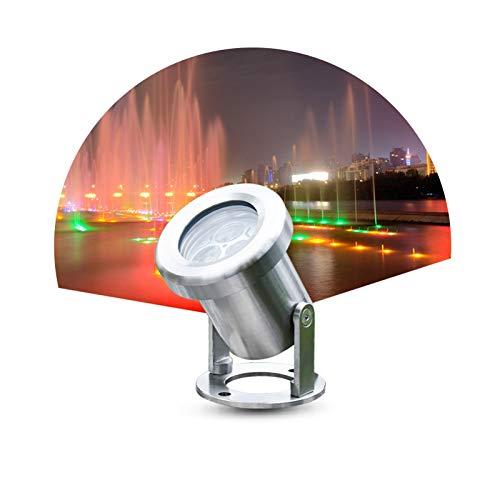 ASPZQ Luz subacuática LED 1000LM Alta Resistencia al Agua IP68 Acero Inoxidable luz de la Piscina Luces de Fuente 3w Luces de Estanque Decoración navideña (Color : Warm Light, Size : 3w)