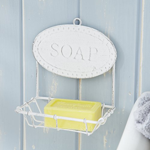 Live Laugh Love Simple White Soap Dish