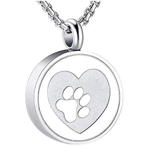 Cremación Recuerdo Collar PET PAW PRINT HEARD CREMATION URN Locket Necklace Hold Dog/Cat Ashes Ashes Casket Jewelry urna cenizas colgante memorial