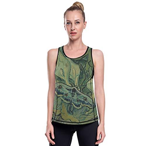 Fantazio Van Gogh Empereur de mites Vêtements d'entraînement en maille pour Yoga Haut d'exercice Gym Chemises de course - - L