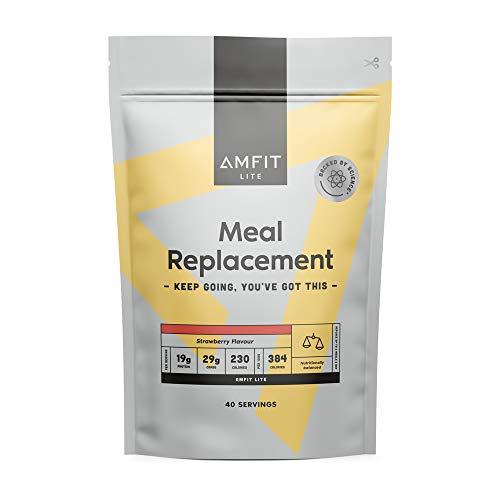 Marca Amazon - Amfit Nutrition Sustitutivo de una Comida para el Control del Peso Sabor a Fresa, 2.4kg (anteriormente PBN)