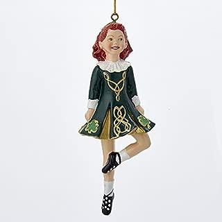 Kurt Adler 6-Inch Resin Irish Step Dancer Christmas Ornament