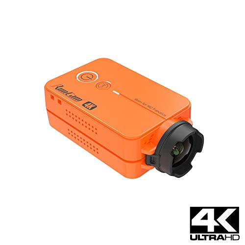 RunCam 2 4K Edition FPV Camera Mini Action Dash Cam 1080P 60fps/4K 30fps HD Built-in WiFi iOS/Android APP with 850mAh Replaceable B-attery HD Action Video Sports Camera Orange