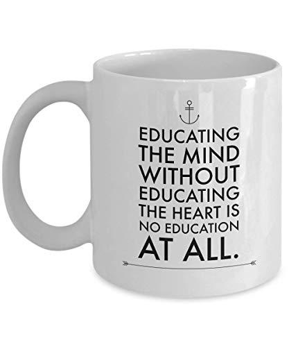 Mittwoch Weisheitsbecher Erziehung des Geistes ohne Erziehung Aristoteles Beste inspirierende Zitat Geschenkidee für Schriftsteller Publizist Dozent