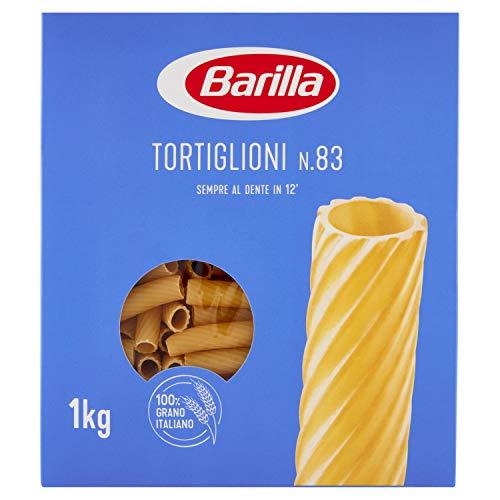 Barilla Pasta Tortiglioni N.83, Pasta Corta di Semola di Grano Duro, I Classici, 1kg