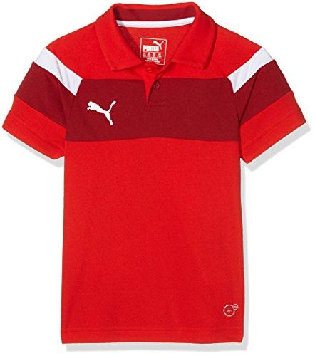 PUMA Kinder Shirt Spirit II Polo, Red-White, 152