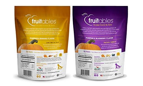 Fruitables Pumpkin Dog Treats, Variety Pack of 5