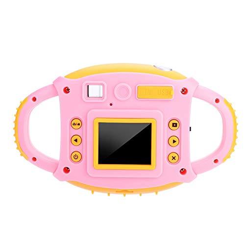 Elerose Mini Kids Kamera,1,8 Zoll HD 5MP Nette Spielzeug Action Kamera mit Seilf Funktion für Jungen Mädchen Geschenk(pink)