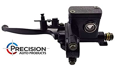 Hydraulic Brake Lever Master Cylinder - Premium LEFT Side Lever 7/8 Inch - Perfect Brake Part for 50cc, 125cc, 150cc, 250cc, GY6, Scooter, Moped, ATV, Bikes, Quads - Easy Installation - Precision Auto by Precision Auto Products