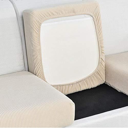 JMBF Sofa Kissenbezug Sofa Sitzbezug Home Decoration Einfarbige Couch Kissenbezug Funiture Protector Jacquard Corner Sofa Seat,Beige-Enlarged1(l:65-95CM*w:65-95CM*h:5-20CM)