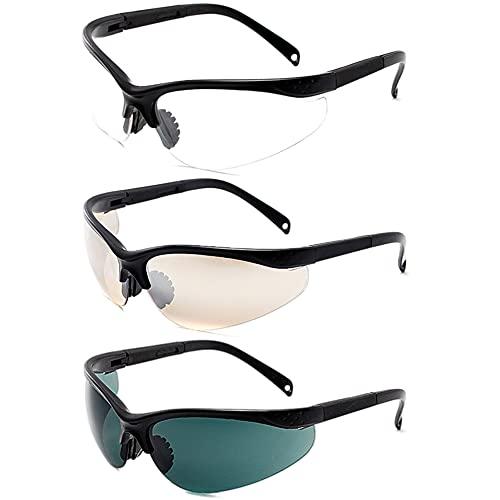 BKJJ Gafas de Sol Deportivas Polarizadas Gafas Ciclismo Hombres Mujeres Gafas Deportivas para montar, Ciclismo, Pesca, Correr, Golf, Esquí 3 piezas