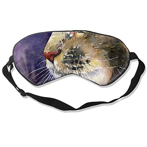 Augenmaske Cat with Purple Schlafmaske verstellbar atmungsaktiv Schlafmaske Augenmaske