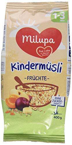 Milupa Kindermüsli Früchte 1-3 Jahre, 4er Pack (4 x 400 g)
